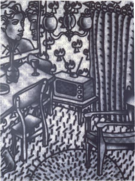 Howard Arkley Suburban, 1983; acrylic on paper on canvas; 160 x 120 cm; enquire