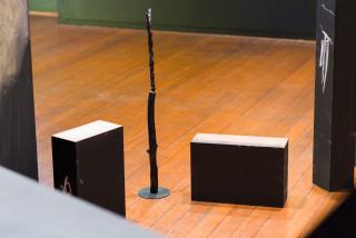 Mikala Dwyer Nest (detail), 2021; wood, bronze, ceramic, chalk, video (building blocks with JW); dimensions variable; enquire