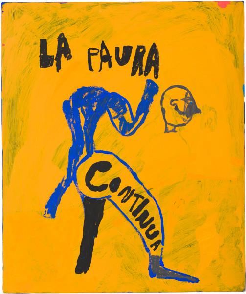 Tom Polo la paura continua, 2021; acrylic and Flashe on canvas; 60 x 50 cm; enquire