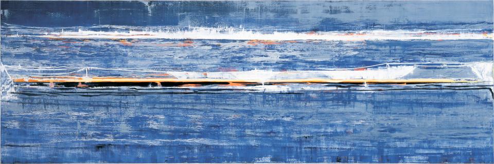 John Firth-Smith Wavelength, 2003; oil on linen; 4 x 12ft; enquire