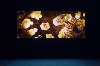 installation view; Isaac Julien Western Union Series No. 6 (Afterlife), 2007; duratran in lightbox; 123 x 303 x 5 cm; Edition of 6 + 1 AP; enquire