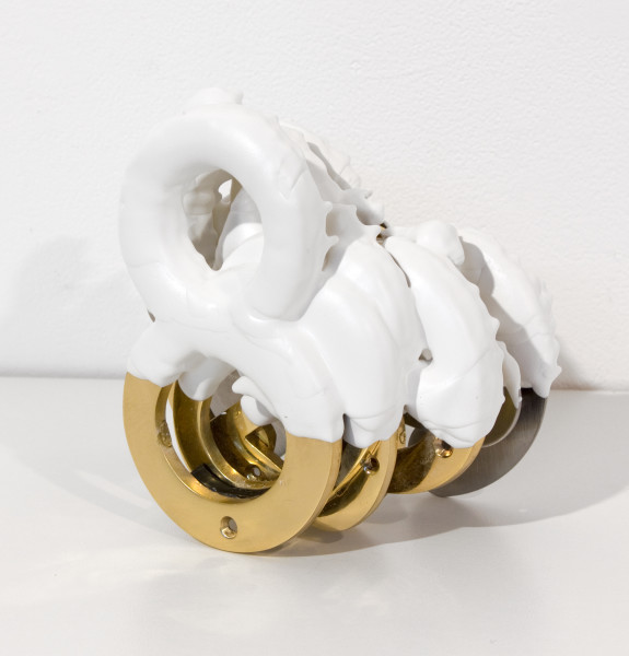 Teppei Kaneuji White Discharge (Numbers), 2011; found objects, resin, glue; 11 x 17 x 16 cm; enquire