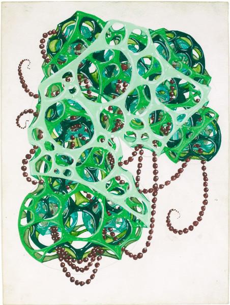 Rohan Wealleans slimey seed sucker, 2008; gouache on paper; 30 x 23 cm; 48.5 x 40cm (frame); enquire