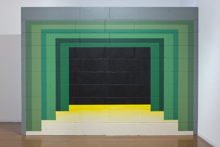 Callum Morton Monument #29: Arch, 2011-12; resin, sand, polystyrene, synthetic polymer paint, timber; 290 x 400 x 30 cm; enquire