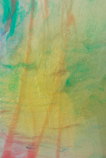 Dale Frank Love (detail), 2020; powder pigments in resin, epoxyglass, on Perspex; 160 x 120 cm; Enquire