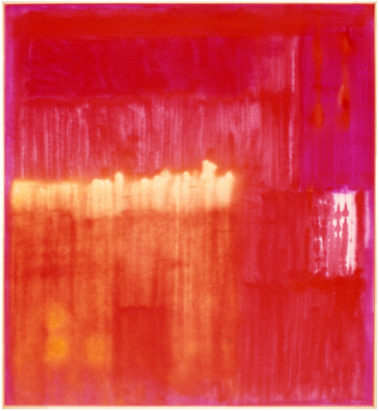 Dale Frank The Bright Humming Painting for Little Tiger, 1998; acrylic and enamel on linen; 185 x 170 cm; enquire
