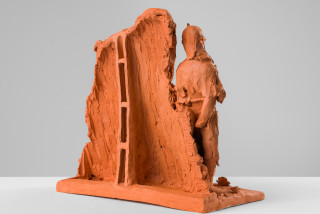 Linda Marrinon Scene at Edfu, 2020; terracotta; 29 x 31 x 16 cm; enquire