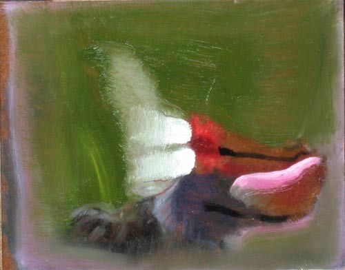 Louise Hearman Untitled #1192, 2005; oil on masonite; 21 x 26 cm; enquire