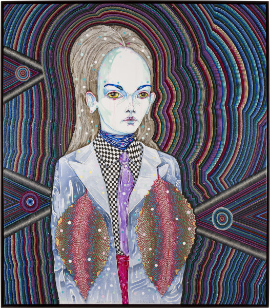 Del Kathryn Barton what you know, 2013; synthetic polymer paint and gouache on polyester canvas; 163 x 143 cm; enquire
