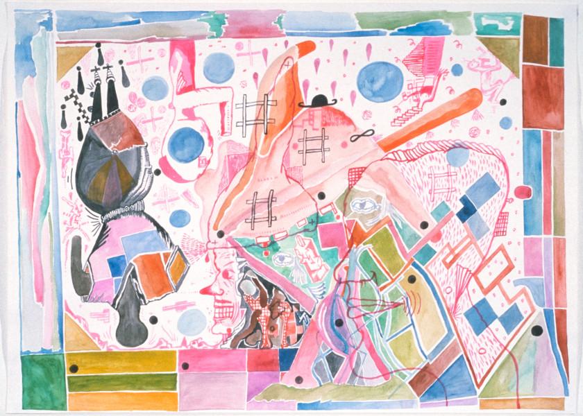 Gareth Sansom Contrasts, 1989; watercolour on paper; 56 x 76 cm; enquire