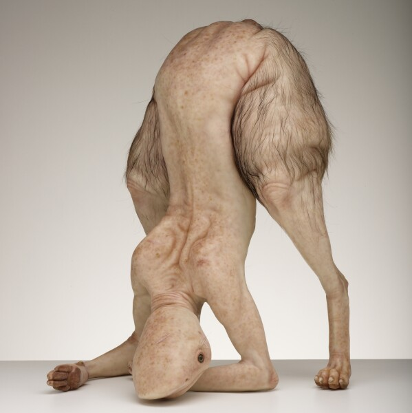 Patricia Piccinini Bottom Feeder, 2009; silicone, fibreglass, animal fur, steel; 45 x 40 x 66 cm; Edition of 3 + AP 1; enquire
