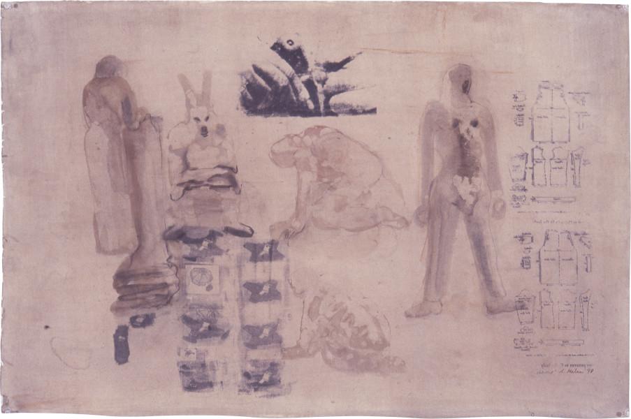 Nalini Malani Untitled, 1997; transfer print, gouache on watercolour paper; 68 x 104 cm; enquire