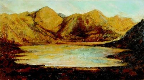 Mandy Martin Omnus Inclusum, 2002; oil, ochre & pigment on linen; 135 x 244 cm; enquire