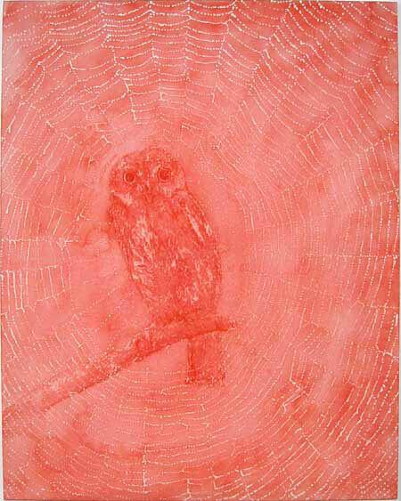 David Noonan Sowa, 2003; white and pink canvas; 76.4 x 61 cm; enquire
