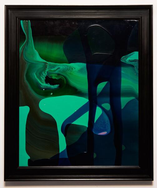 Dale Frank Conservative Institutional Beauty #3, 2013; Varnish on canvas; 86 x 74 cm; (framed); enquire