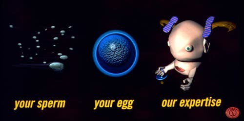 Patricia Piccinini Your Sperm Your Egg Our Expertise, 1995; Type C colour photograph; 130 x 230 cm; Edition of 3; enquire
