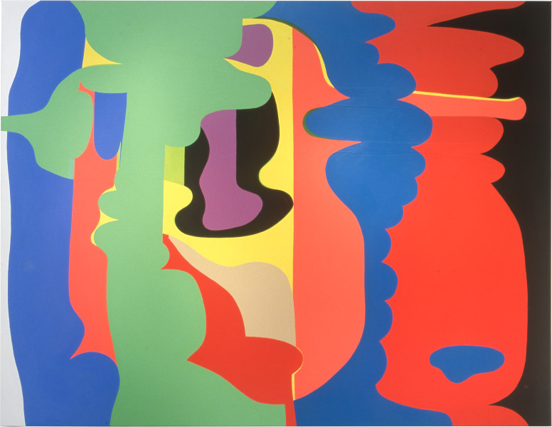 Dale Frank Summer Pink Grapefruit Balls, 2001; from the series Cat #10; acrylic paint on canvas; 200 x 260 cm; enquire