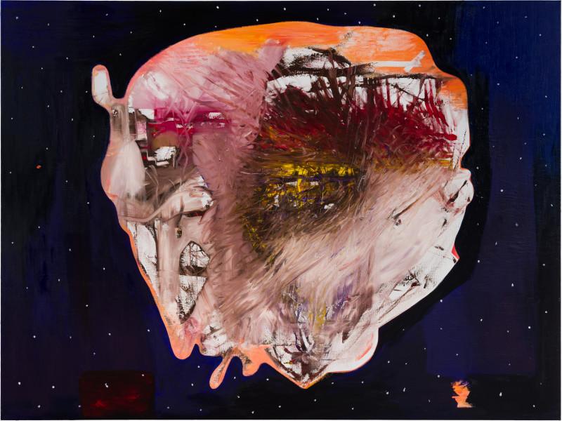 Gareth Sansom Space Junk, 2019; oil and enamel on linen; 183 x 244 cm; Enquire