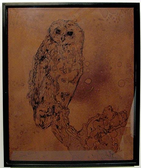 David Noonan Owl, 2003; gouache on canvas; 60 x 50 cm; enquire