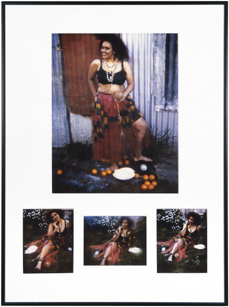 Destiny Deacon Welcome to my island, 1993-04; light jet print from Polaroid original; 4 parts, dimensions variable; Edition of 15 + 2 APs; enquire