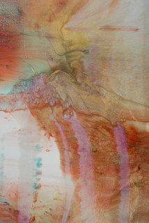 Dale Frank Infatuation (detail), 2020; powder pigments in resin, epoxyglass, on Perspex; 160 x 120 cm; enquire