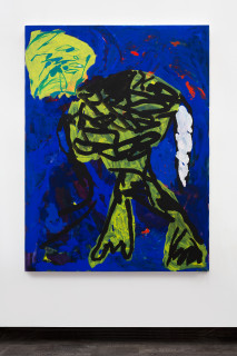 installation view; Tom Polo building bodies, 2021; oil, acrylic and Flashe on canvas; 182 x 138 cm; enquire