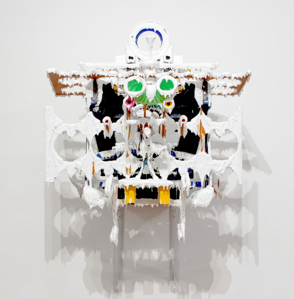 Teppei Kaneuji White Discharge (Built-up Objects #17), 2011; found objects, resin, glue; 60 x 50 x 55 cm; enquire