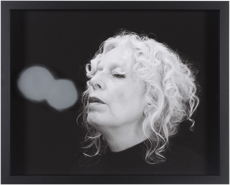 Julie Rrap Blow Back #11, 2018; digital print and handground glass; 52 x 64 cm; Edition of 3 + AP 1; enquire
