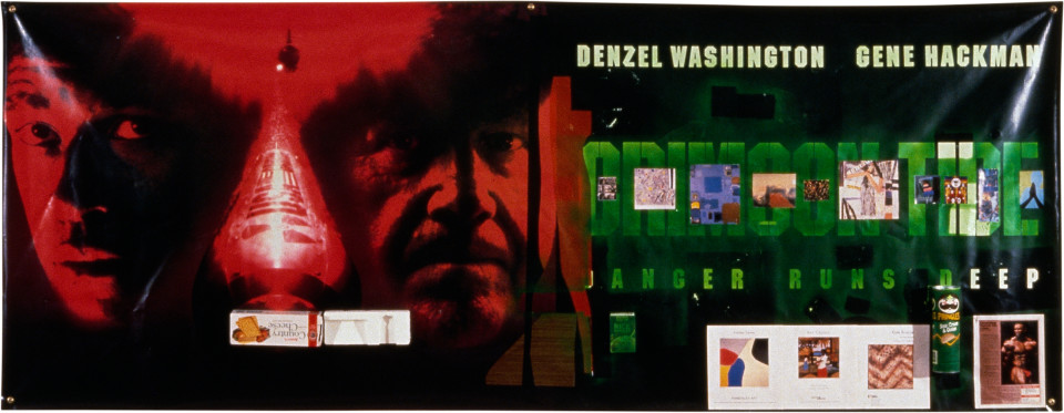 Dale Frank Crimson Tide (Beaver Galleries), 1997; mixed media on printed vinyl; 119 x 306 cm; enquire
