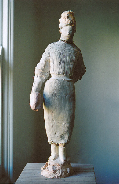 Linda Marrinon Victorian Woman with Muff, 2006; tinted plaster; 60 x 30 x 30 cm; enquire