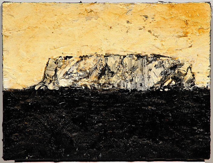 Mandy Martin Iceberg 1, 2008; ochre, pigment and oil on linen; 30 x 40 cm; enquire