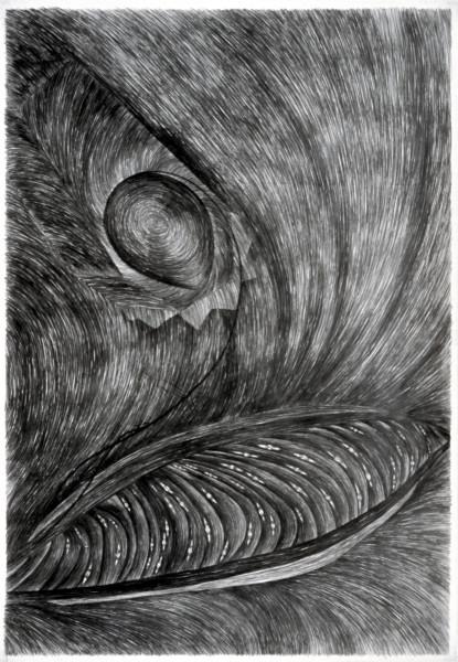 Dale Frank The Hierophant's Cancerous Oats, 1982; graphite on paper; 268 x 188 cm; enquire