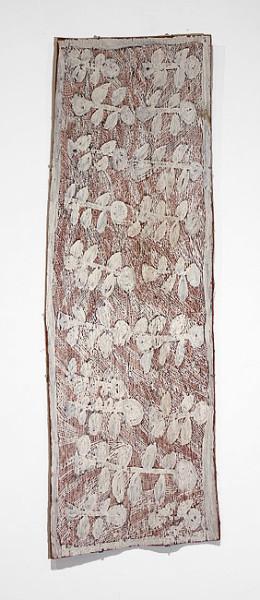 Nyapanyapa Yunupingu Birrka'mirri, 2012; 4198S; natural earth pigments on bark; 141 x 46 cm; enquire