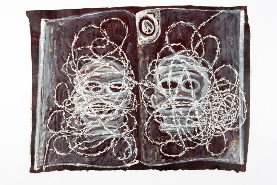 Fiona Hall By The Book, 2015; Cat no. 30; khadi paper; 57 x 76 cm; enquire