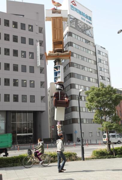 Tatzu Nishi Life's Little Worries in Yokohama, 2009; Light Jet print; 153 x 104 cm; Edition of 5 + AP 1; enquire