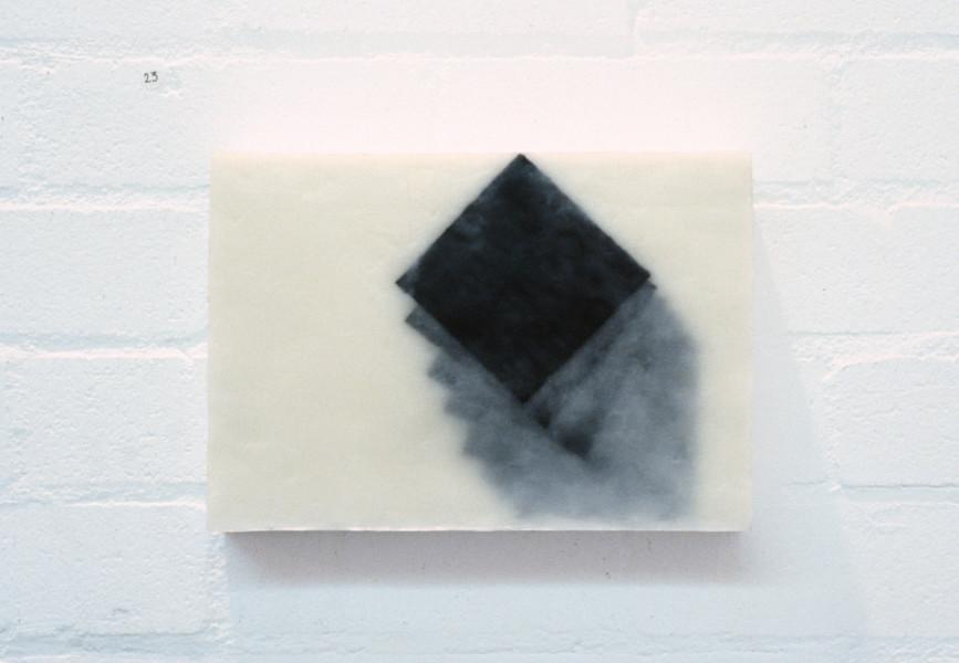 Jurek Wybraniec Untitled, 1993; beeswax & pigment on hardboard; 21.5 x 30 cm; enquire
