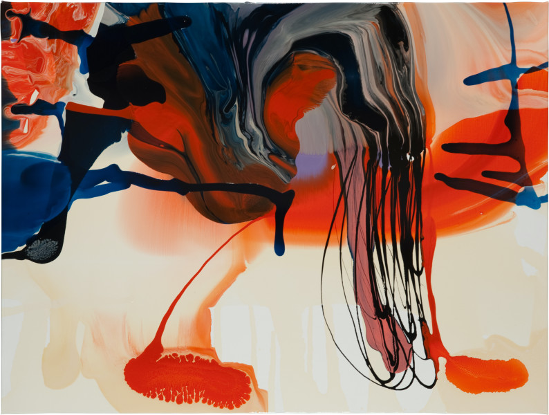 Dale Frank Dracunculus Vulgaris Vocal Uterus, 2011; varnish on canvas; 160 x 120 cm; enquire