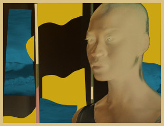 Isaac Julien Cyborg #1 Octavia / Dune (Radioactive series), 2018; foils mounted on aludibond, KODAK Duraclear mounted onto plexi, collage of solvent inkjet print on foil; 84 x 110 cm; Enquire