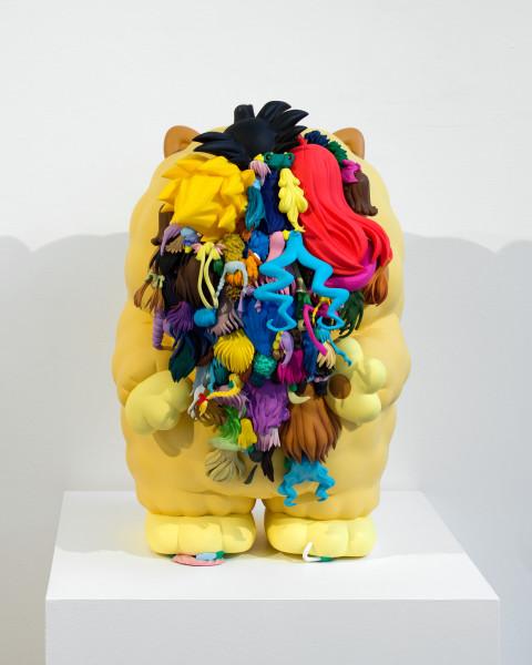 Teppei Kaneuji Teenage Fan Club #41, 2011; plastic figures, hot melt glue  ; 43 x 27.5 x 34 cm; enquire