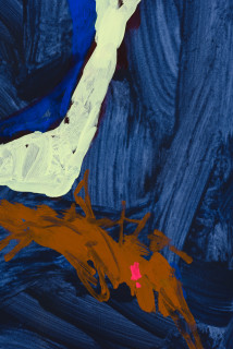 Tom Polo the edge of envy (detail), 2021; acrylic and Flashe on canvas; 182 x 138 cm; enquire