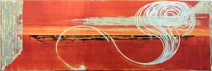 John Firth-Smith Apparition, 2003; oil on canvas; 5 x 15ft; enquire