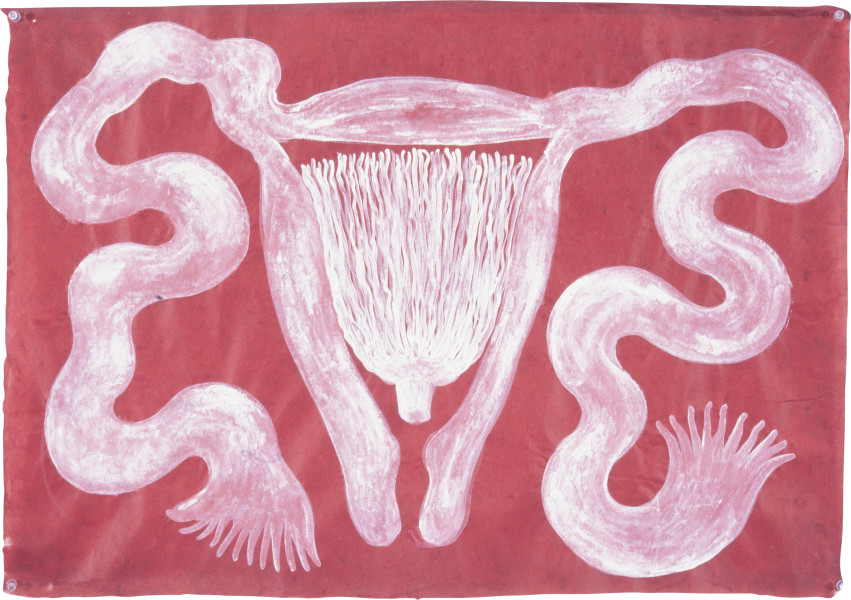 Fiona Hall First Contact, 1997; gouache on Daphne paper; 56 x 80 cm; enquire