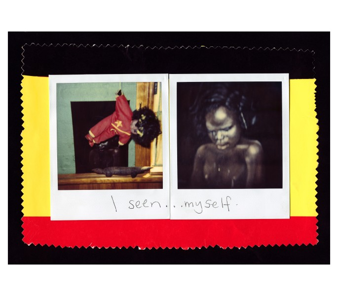 Destiny Deacon I seen myself, 1991-2003; light jet print from Polaroid original; 121 x 158.5 cm; (framed); Edition of 15; enquire