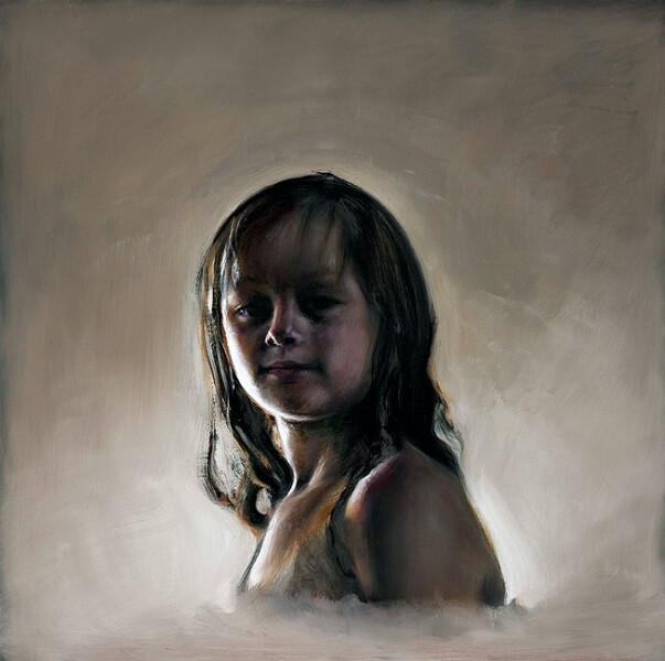 Louise Hearman Untitled #1290, 2009; oil on masonite; 61 x 61 cm; enquire