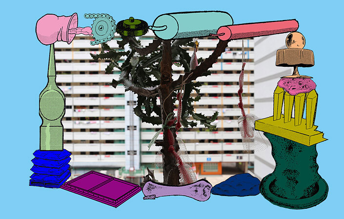 Teppei Kaneuji Games, Dance and the Constructions (Singapore) #9-B, 2013; Screen print,archival ink jet print, plexiglas, cotton rag paper ; 61.5 x 94.5 x 4.5 cm; enquire