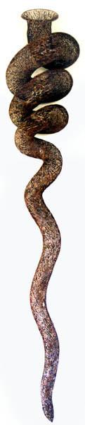 Bronwyn Oliver Rouleau, 2002; copper; 215 x 40 x 30 cm; enquire
