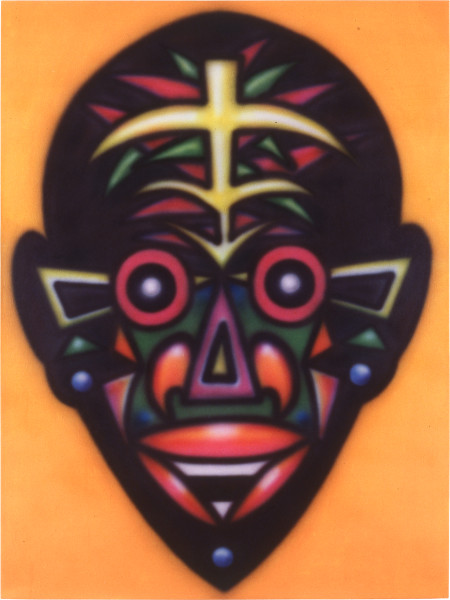 Howard Arkley Zappo Head, 1987; acrylic paint on canvas; 160 x 122 cm; enquire