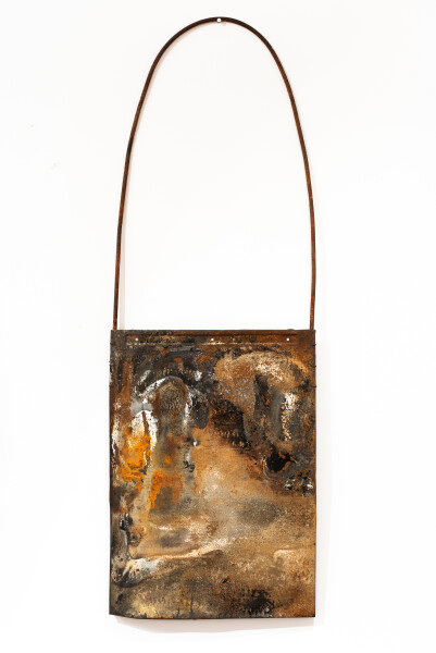 Lorraine Connelly-Northey Narrbong, 2019; CONNL - 0036; burnt steel; 183 x 63 x 6 cm; enquire