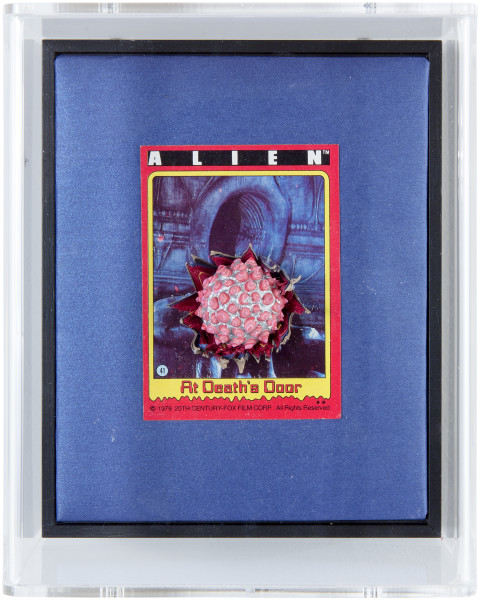 Rohan Wealleans At Death's Door, 2014; paint and polystyrene on trading cards; 17 x 13.8 x 9 cm; enquire
