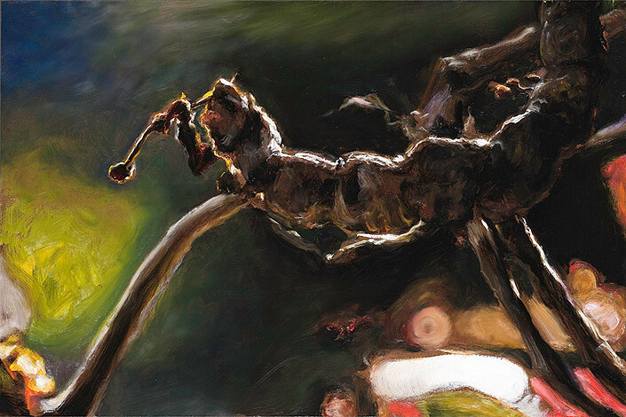 Louise Hearman Untitled #1292, 2009; oil on masonite; 61 x 91.5 cm; enquire